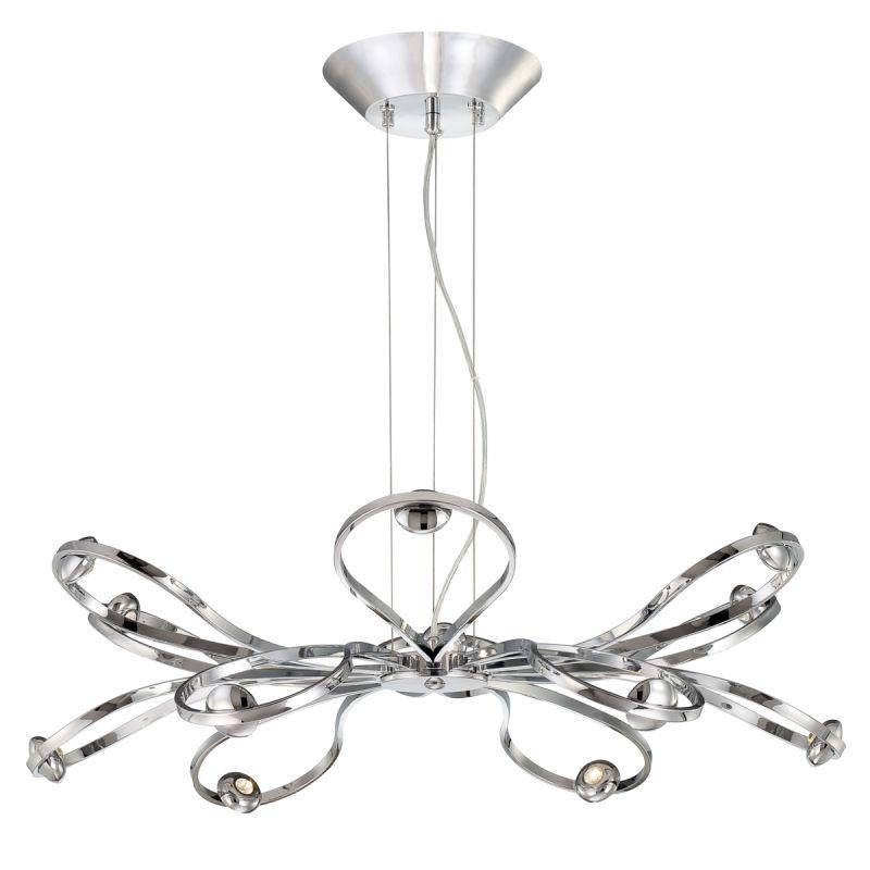 Eurofase Lighting 22955-012 Chrome Contemporary Aria Chandelier