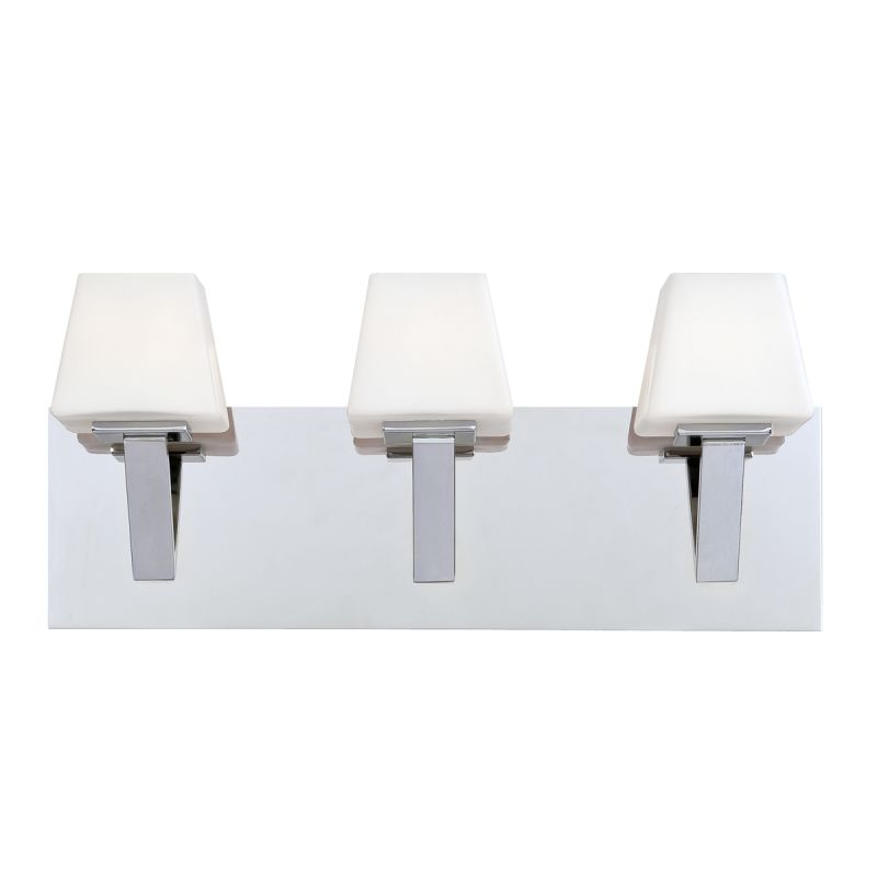 Eurofase Lighting 23042 Anglo 3 Light Bathroom Fixture with Tapered