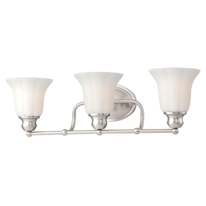 Eurofase Lighting 23050 Fountaine 3 Light Bathroom Fixture with Opal