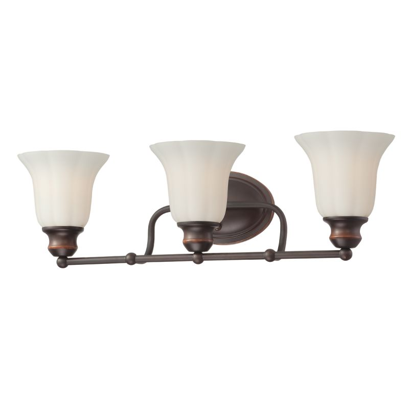 Eurofase Lighting 23050 Fountaine 3 Light Bathroom Fixture with Opal