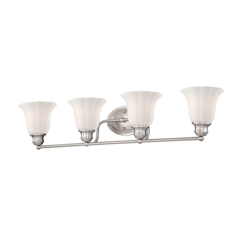 Eurofase Lighting 23051 Fountaine 4 Light Bathroom Fixture with Opal