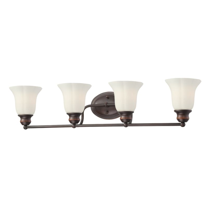 Eurofase Lighting 23051 Fountaine 4 Light Bathroom Fixture with Opal