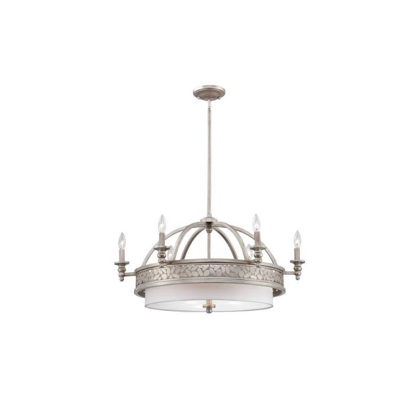 Eurofase Lighting 23095 Amano 9 Light Chandelier with Antique Silver