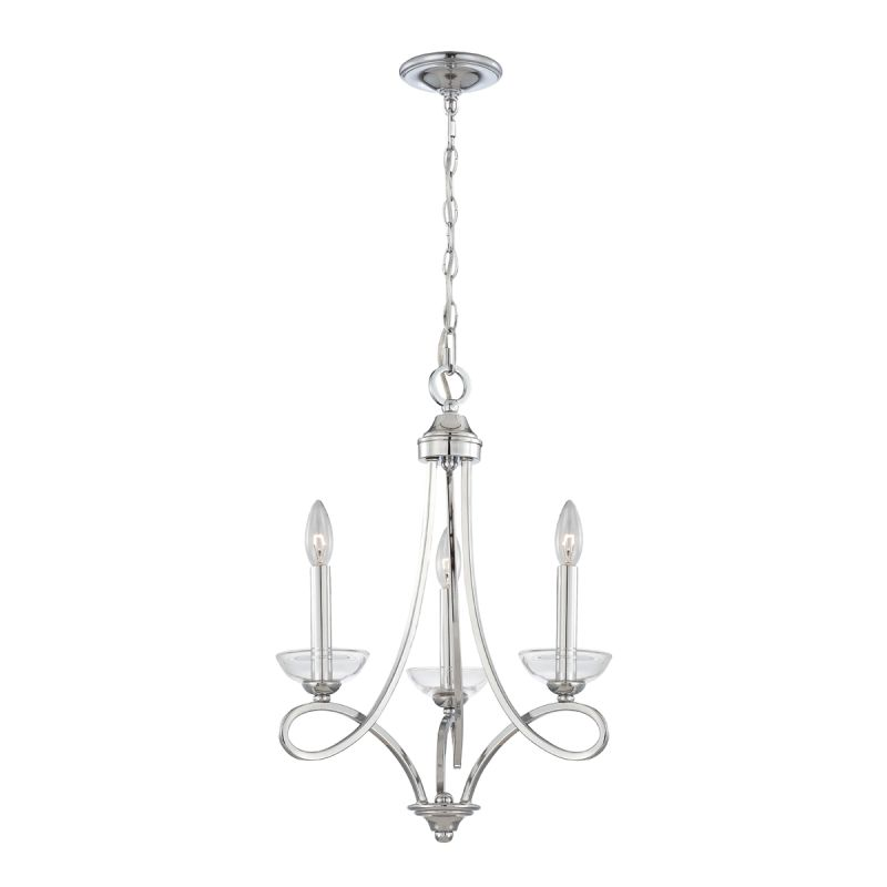 Eurofase Lighting 23096 Volte 3 Light Chandelier with Clear Crystal