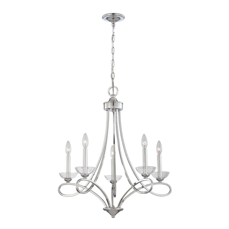 Eurofase Lighting 23097 Volte 5 Light Chandelier with Clear Crystal