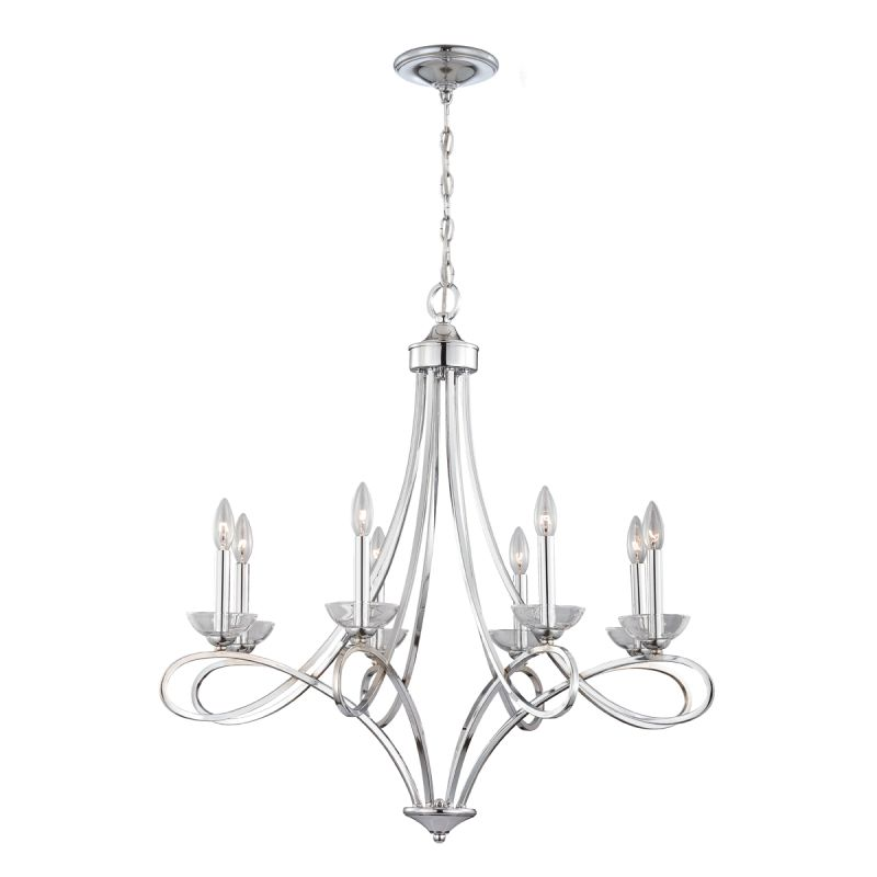 Eurofase Lighting 23098 Volte 8 Light Chandelier with Clear Crystal