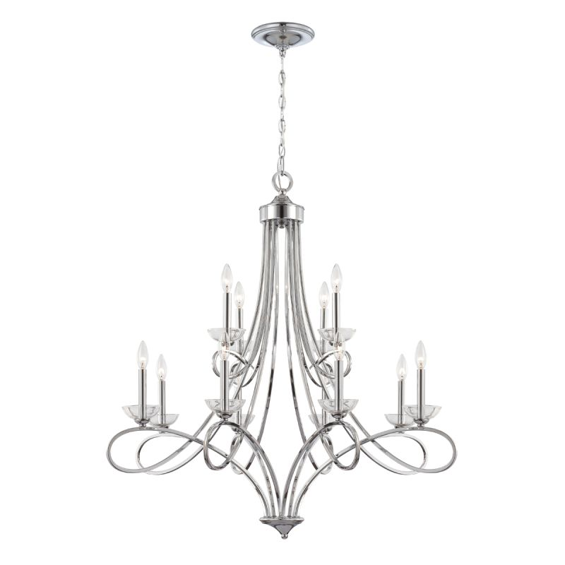 Eurofase Lighting 23099 Volte 12 Light Chandelier with Clear Crystal