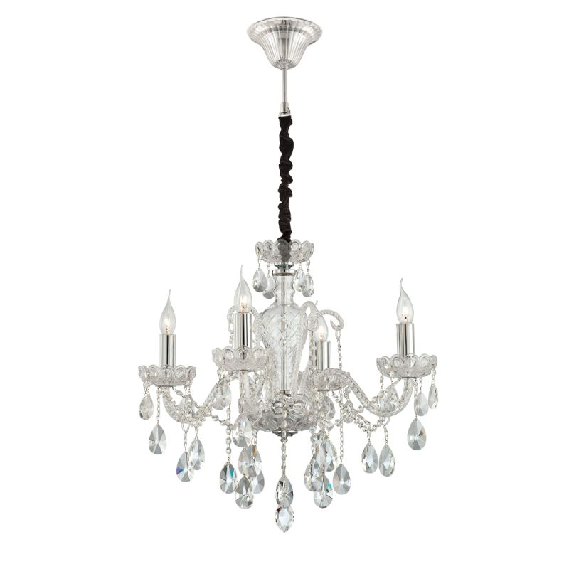 Eurofase Lighting 23123 Providence 4 Light Chandelier Made of Blown