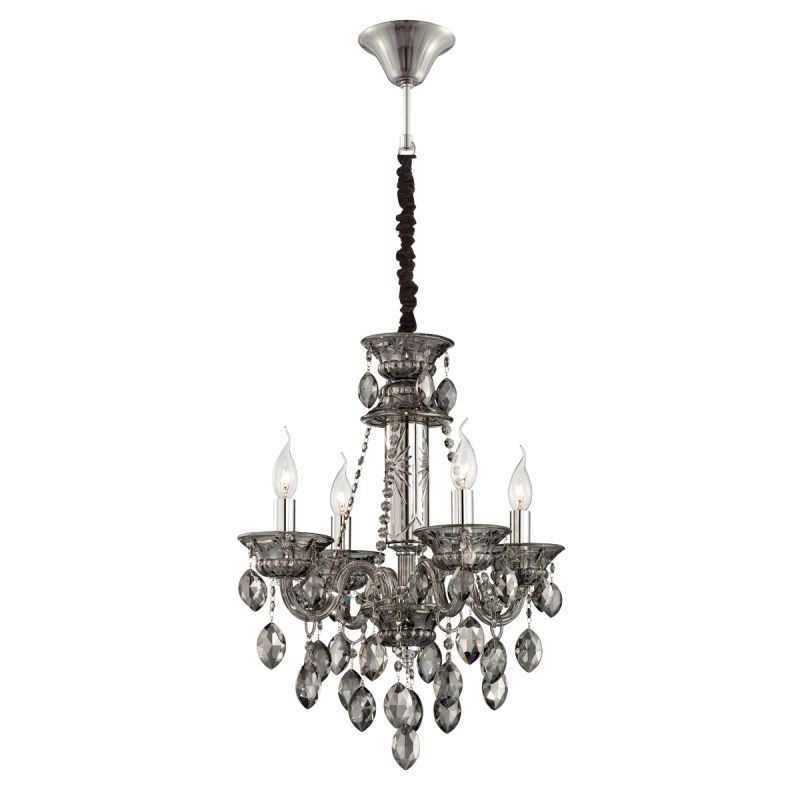 Eurofase Lighting 23126 Venetian 4 Light Chandelier with Crystal