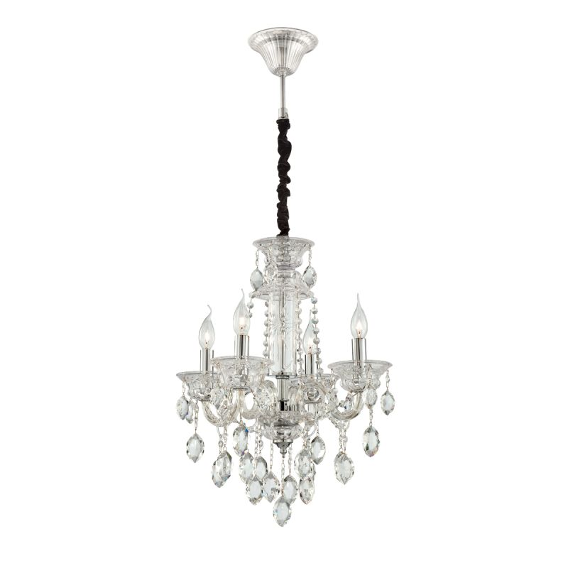 Eurofase Lighting 23126 Venetian 4 Light Chandelier with Crystal