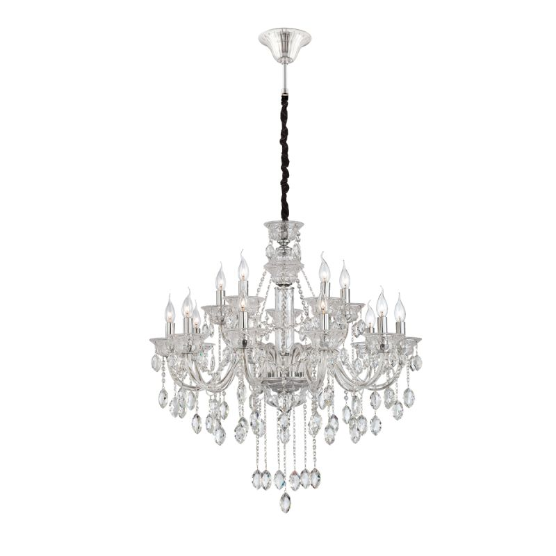 Eurofase Lighting 23127 Venetian 15 Light Chandelier with Crystal