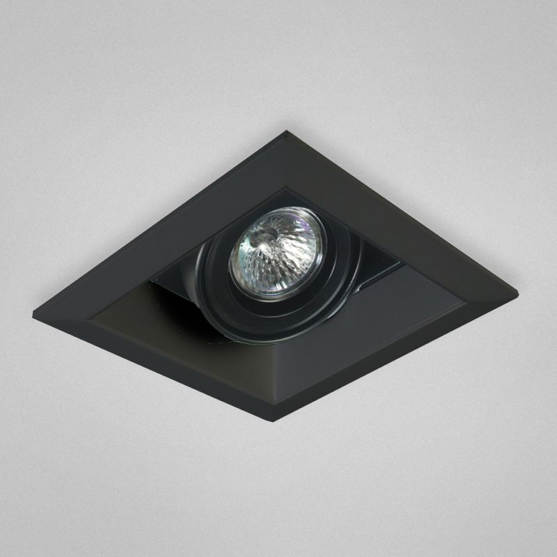 Eurofase Lighting TE111 MR16 Directional 1 Light Recessed Trim Black