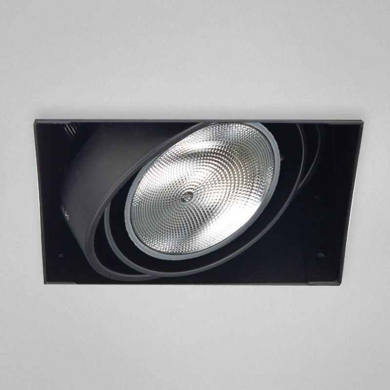"Eurofase Lighting TE221 1 Light 7"" Trimless Square Adjustable Recessed"
