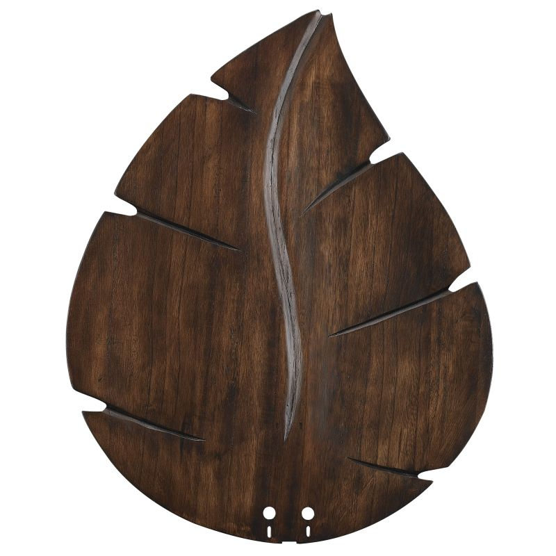 "Fanimation B5280 22"" Wide Oval Leaf Carved Wood Blades for 52"" Ceiling"