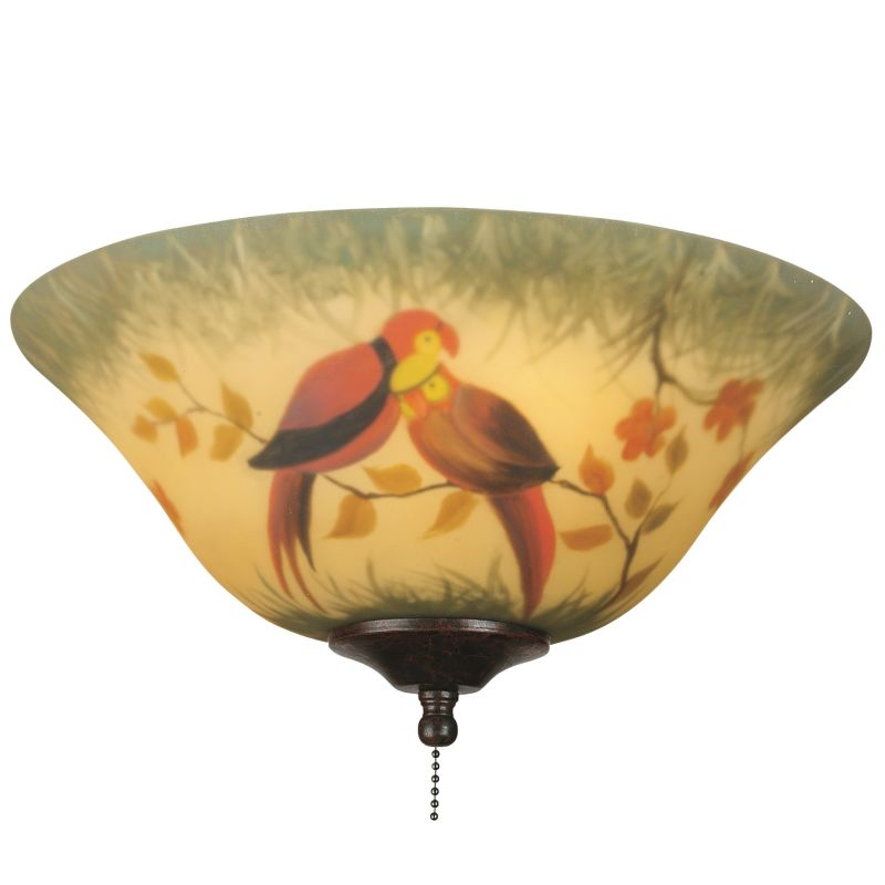 """Fanimation G439 13"""" Hand-Painted Glass Bowl Shade for F423 or FW423"""