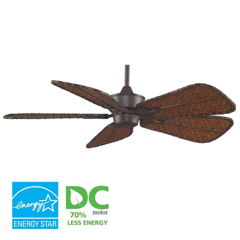 "Fanimation MAD3250-ISD7A Islander 52"" 5 Blade DC Ceiling Fan - Antique"