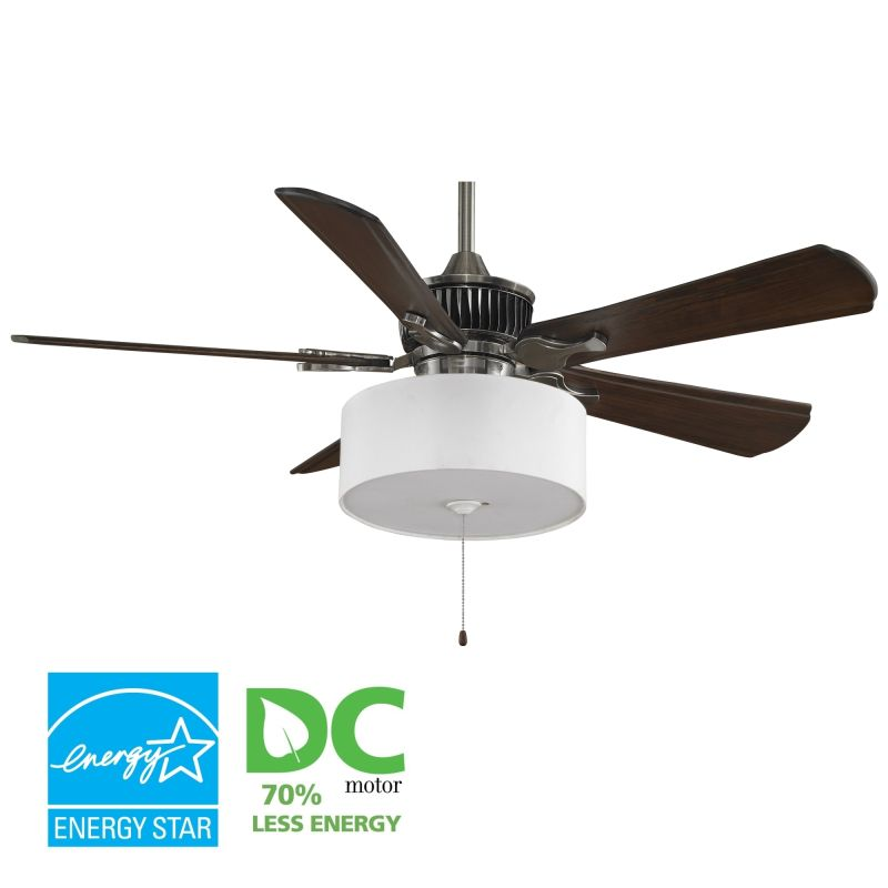 "Fanimation MAD3255-B5310WA-LK113WH Louvre 52"" 5 Blade DC Ceiling Fan -"