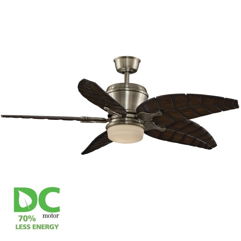 "Fanimation MAD3260-B5340WA Sandella 52"" 5 Blade DC Ceiling Fan -"
