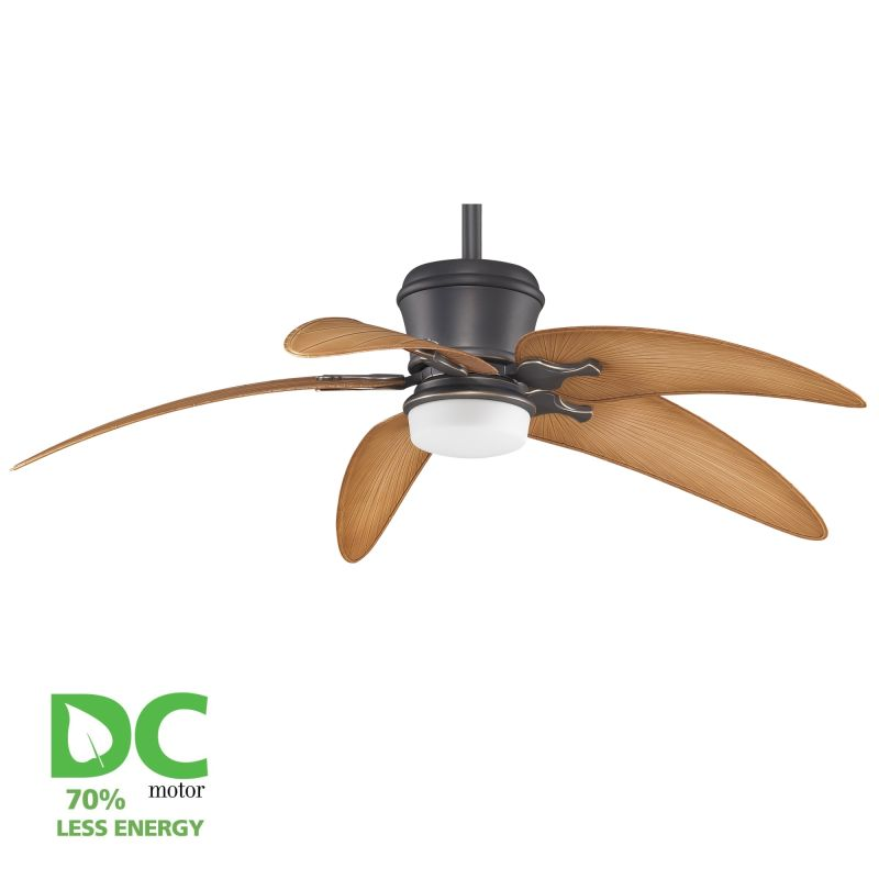"""Ceiling Fans With Up And Down Lights: Fanimation Oil Rubbed Bronze Sandella 60"""" 5 Blade DC"""