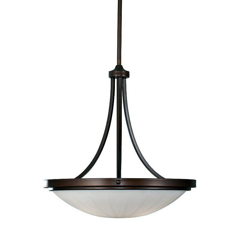 Feiss F2583/3 Perry 3 Light Pendant with White Opal Etched Glass Shade