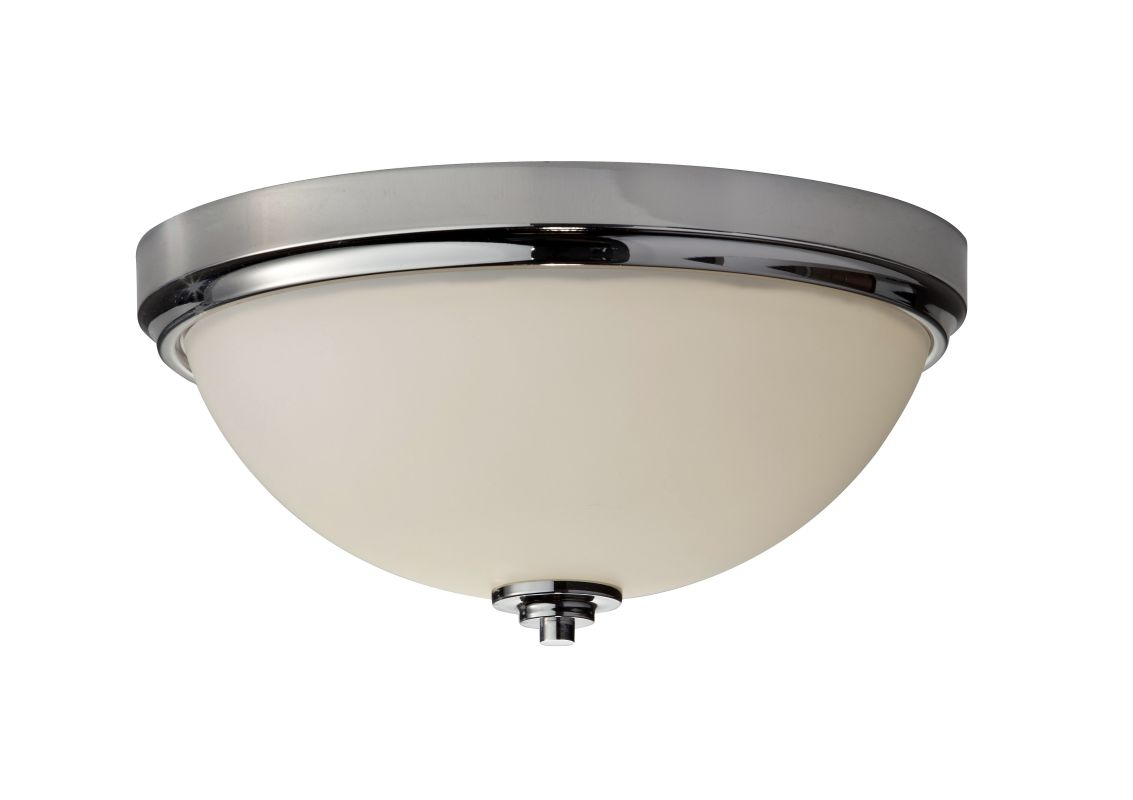 Feiss FM372 Malibu 2 Light Flush Mount Ceiling Fixture Polished Nickel