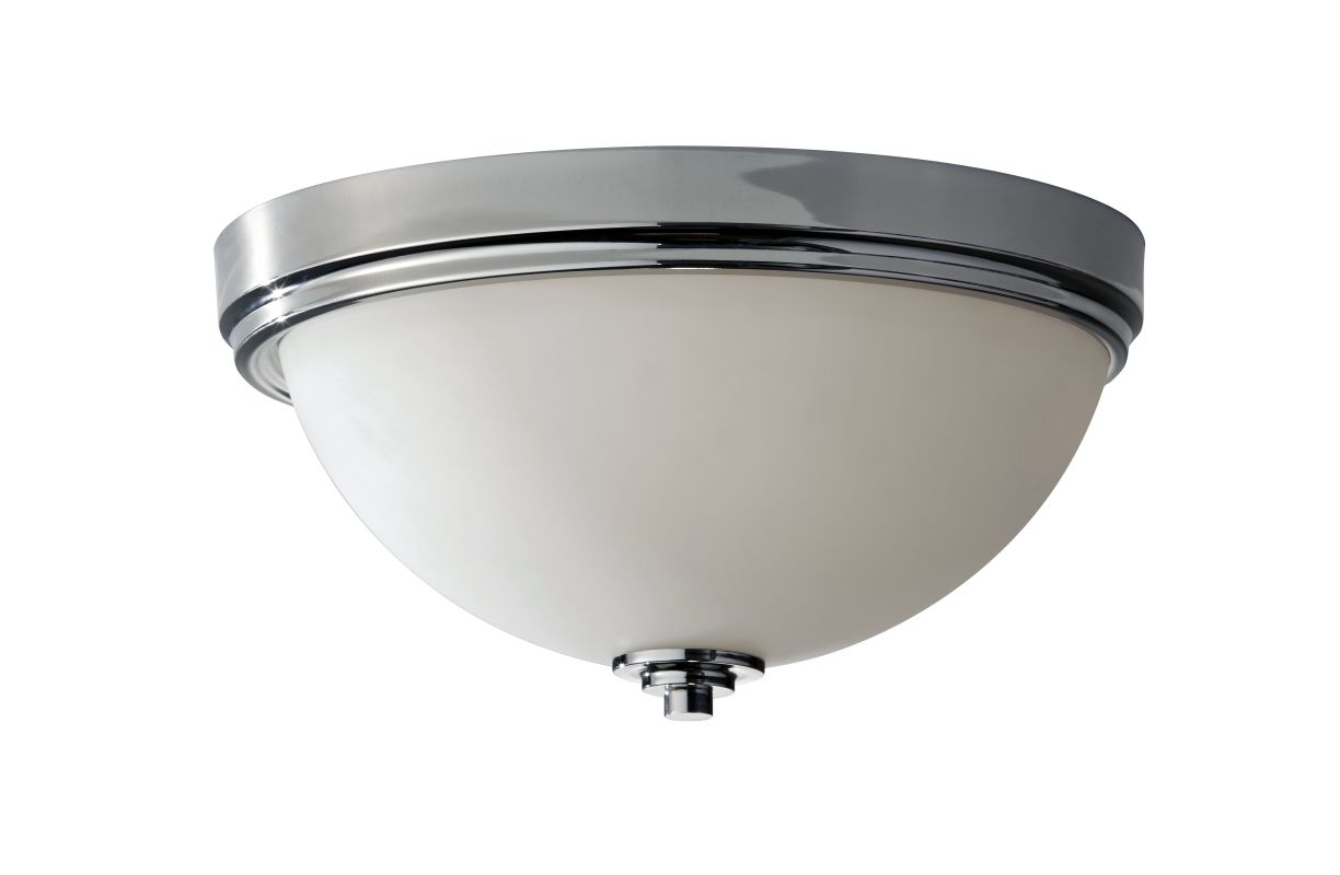 Feiss FM373 Malibu 3 Light Flush Mount Ceiling Fixture Polished Nickel