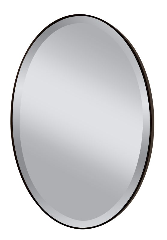 "Feiss MR1126 Johnson 36.375"" Height x 24.375"" Width Oval Mirror Oil"