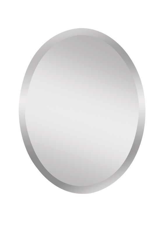"""Feiss MR1151 Infinity 28"""" Height x 22"""" Width Oval Mirror Clear Home"""