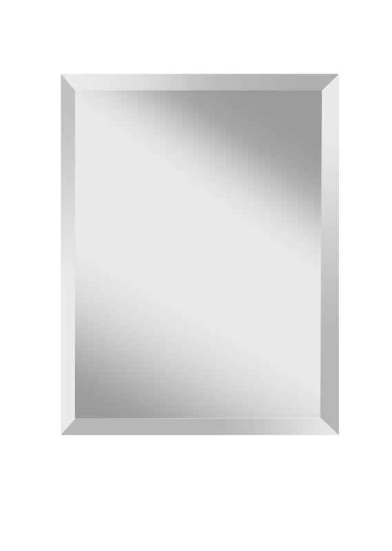 "Feiss MR1152 Infinity 28"" Height x 22"" Width Rectangular Mirror Clear"