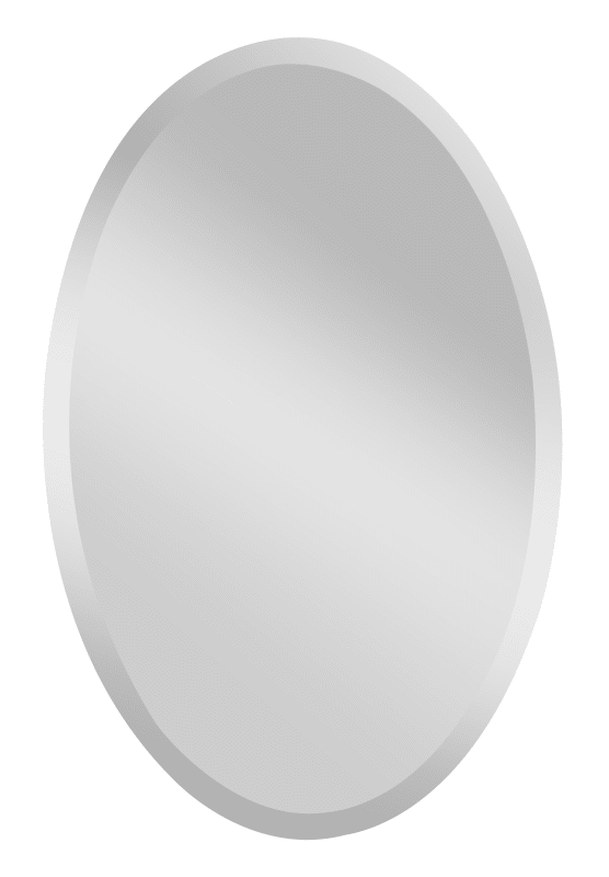 """Feiss MR1153 Infinity 36"""" Height x 24"""" Width Oval Mirror Clear Home"""