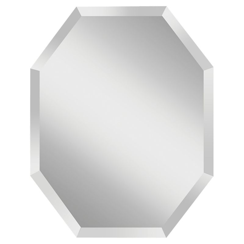 """Feiss MR1156 Infinity 30"""" Height x 24"""" Width Octagonal Mirror Clear"""