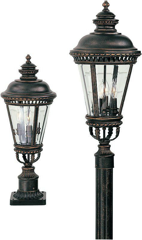Feiss OL1907 3 Light Post Light from the Castle Collection Grecian