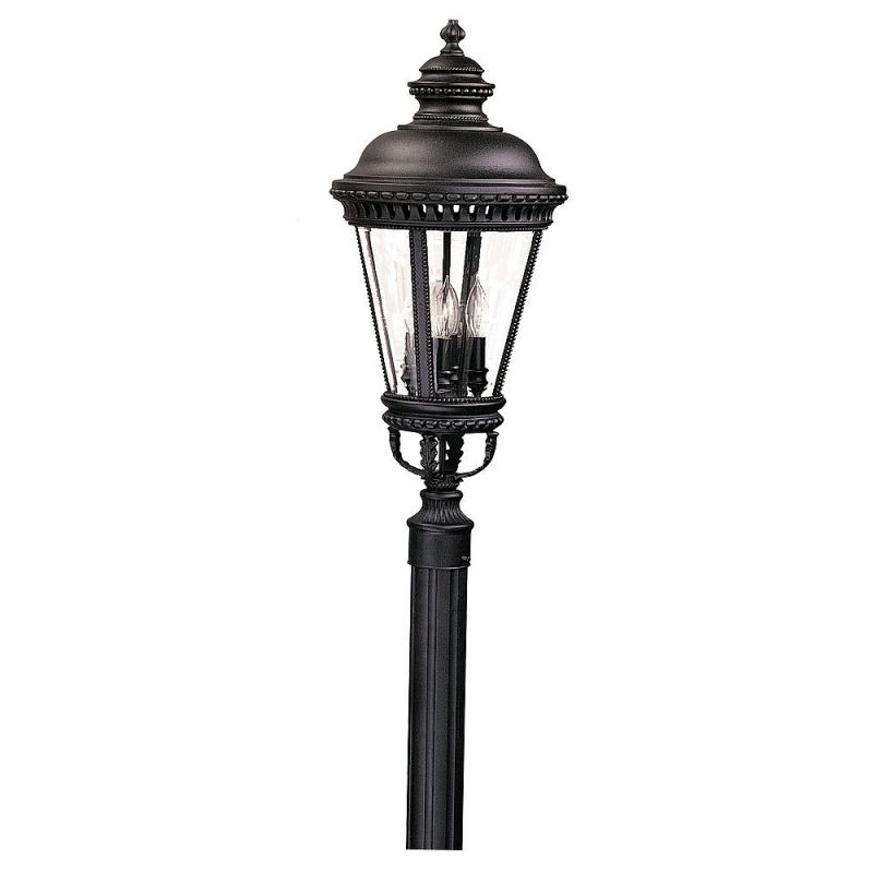 Feiss OL1908 4 Light Post Light from the Castle Collection Black