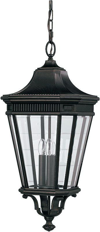 Feiss OL5412 Traditional 3 Light Outdoor Pendant Lantern from the