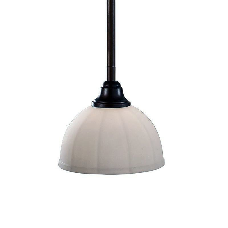 Feiss P1216 Perry 1 Light Mini Pendant with White Opal Etched Glass