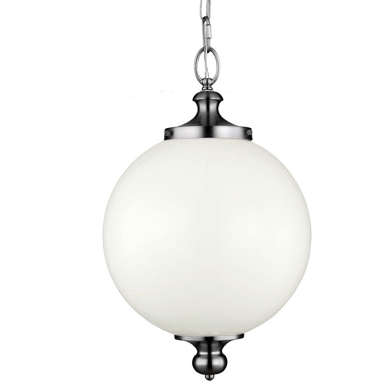 Feiss P1295 Parkman 1 Light Full Sized Pendant Polished Nickel Indoor