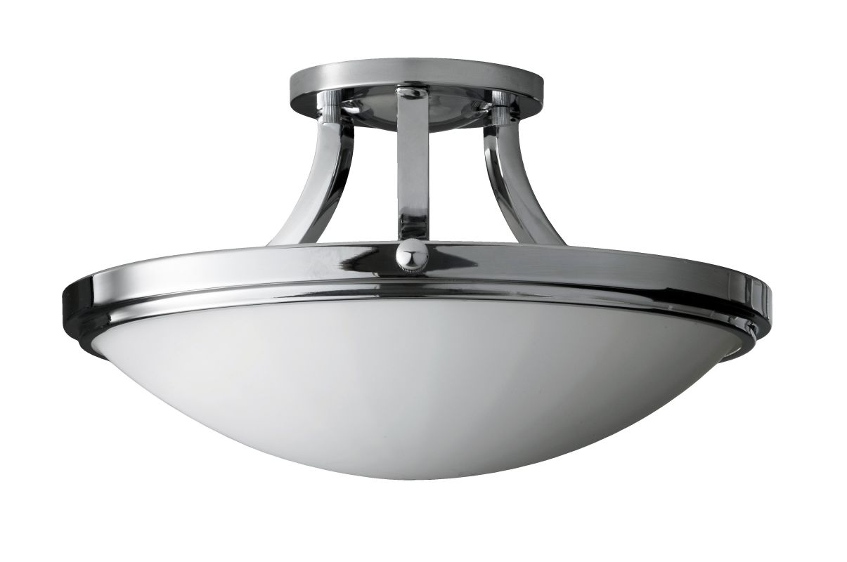 Feiss SF283 Perry 2 Light Semi-Flush Ceiling Fixture with White Opal