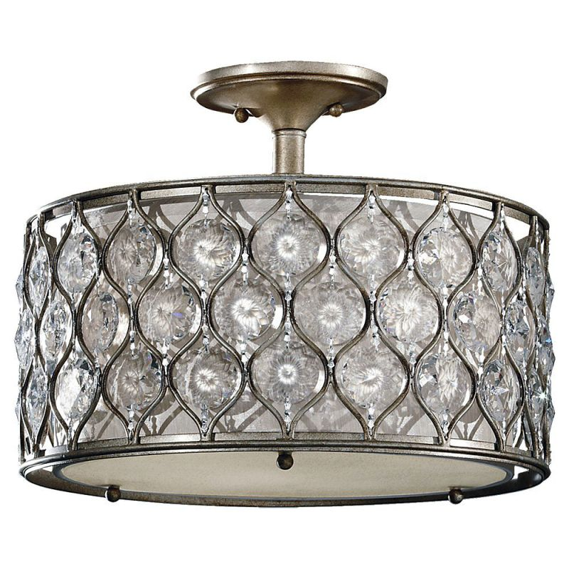 Feiss SF289-F Lucia 3 Light Semi-Flush Ceiling Fixture Burnished Sale $541.00 ITEM: bci3008301 ID#:SF289BUS-F UPC: 14817548174 :