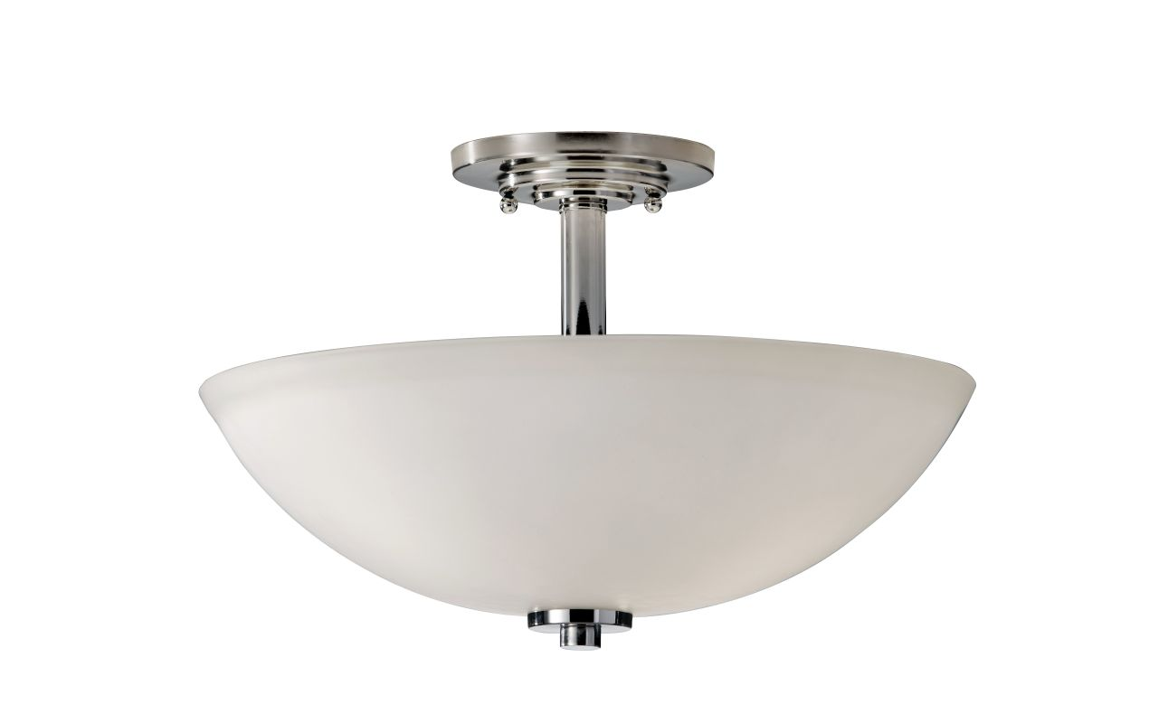 Feiss SF308 Malibu 3 Light Semi-Flush Mount Ceiling Fixture Polished