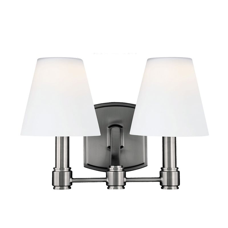 Feiss VS22302 Leddington 2 Light LED Vanity Light Satin Nickel Indoor Sale $237.15 ITEM: bci3008437 ID#:VS22302SN UPC: 14817542042 :