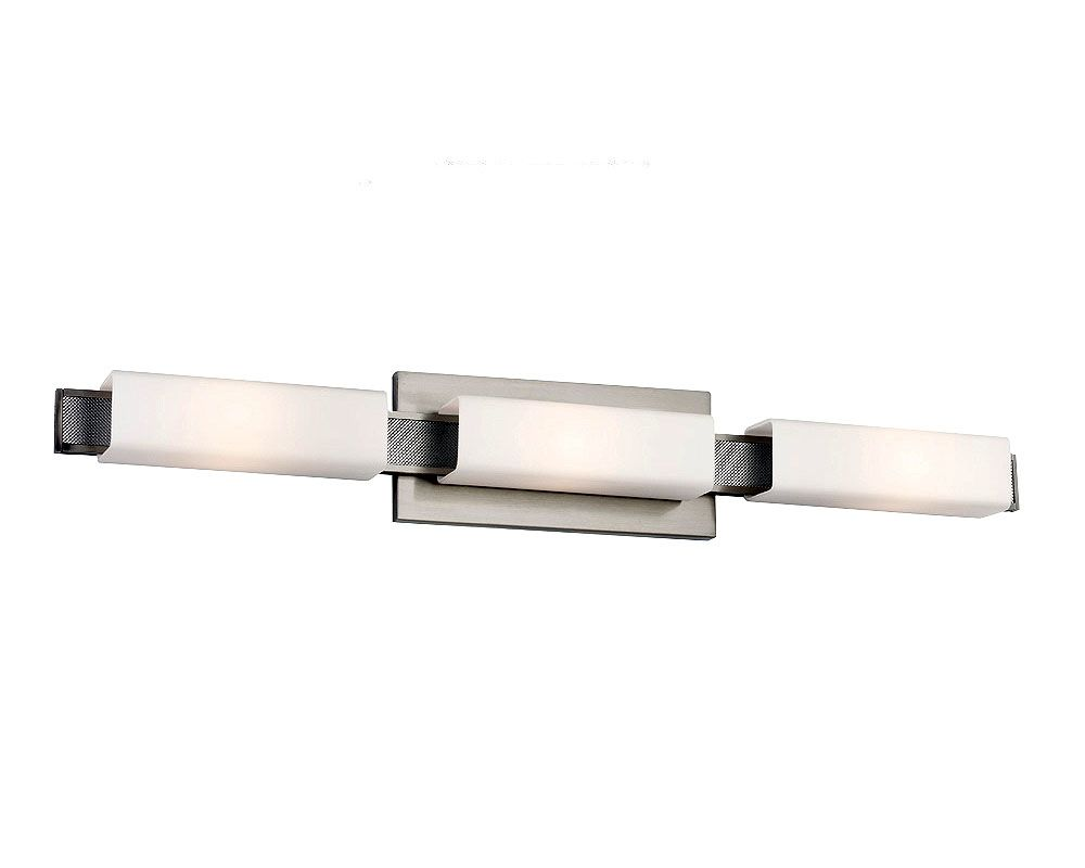 Feiss VS50003 Talia 3 Light ADA Bathroom Vanity Light Brushed Steel