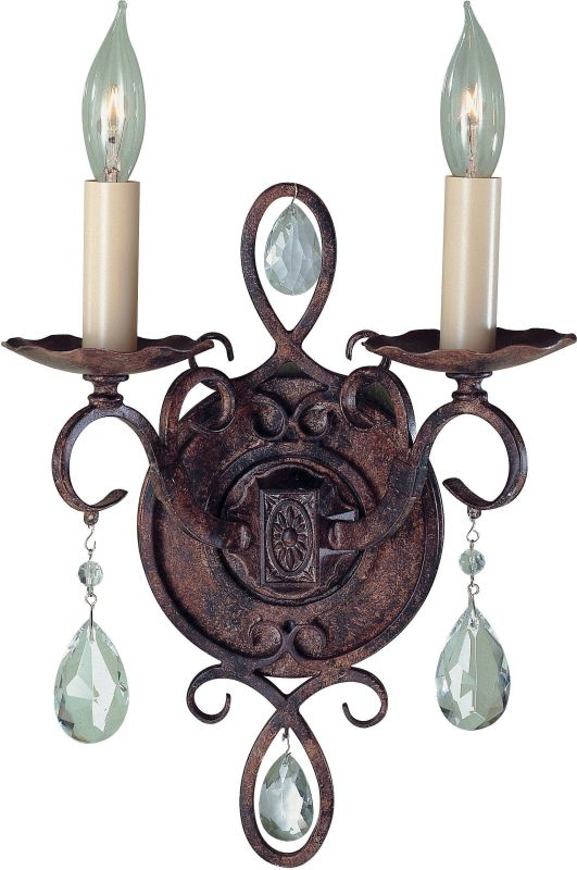 Feiss WB1227 Chateau 2 Light Candle-Style Wall Sconce Mocha Bronze
