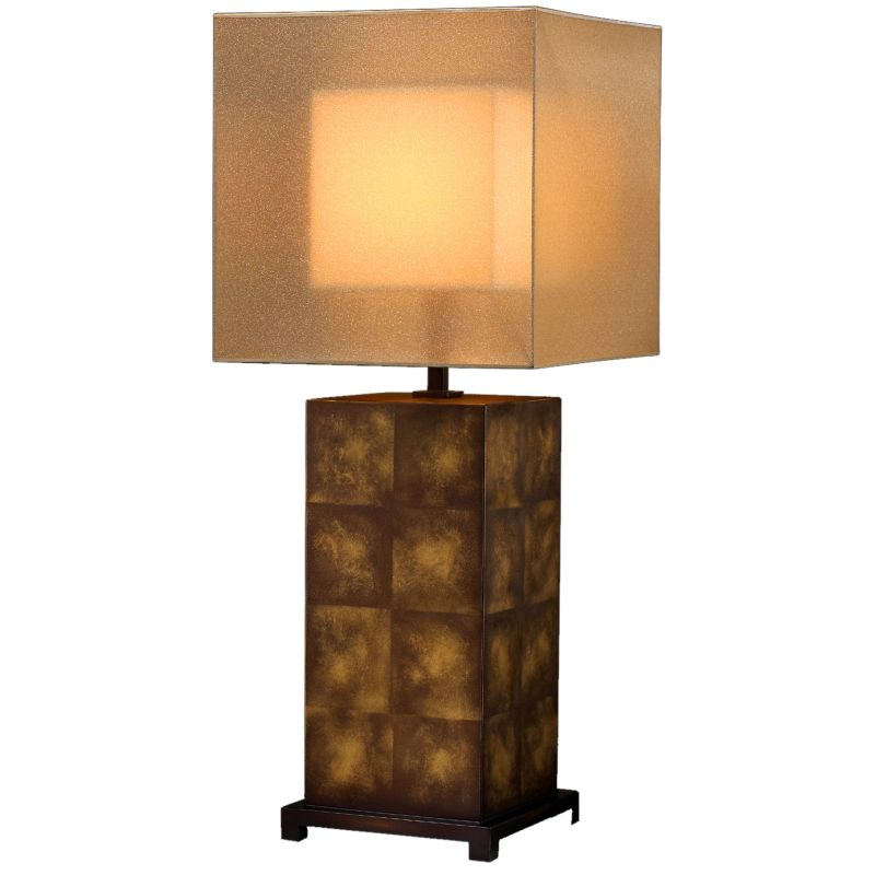Fine Art Lamps 330210ST Quadralli Single-Light Table Lamp with Inline