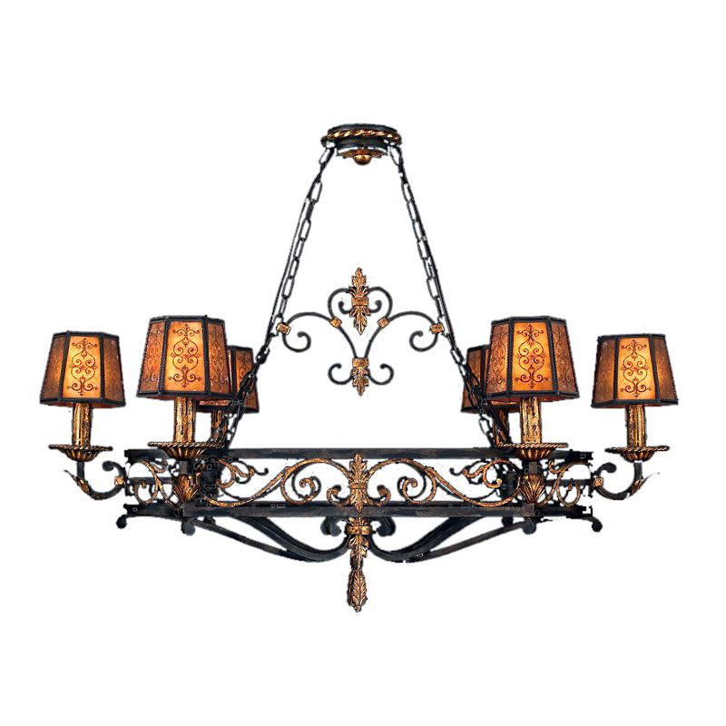 "Fine Art Lamps 400740ST Epicurean 43"" Diameter Six-Light Chandelier"