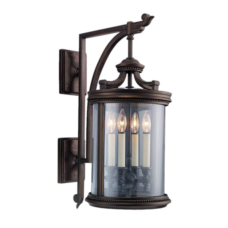 Fine Art Lamps 538481ST Louvre Four-Light Outdoor Wall Sconce with