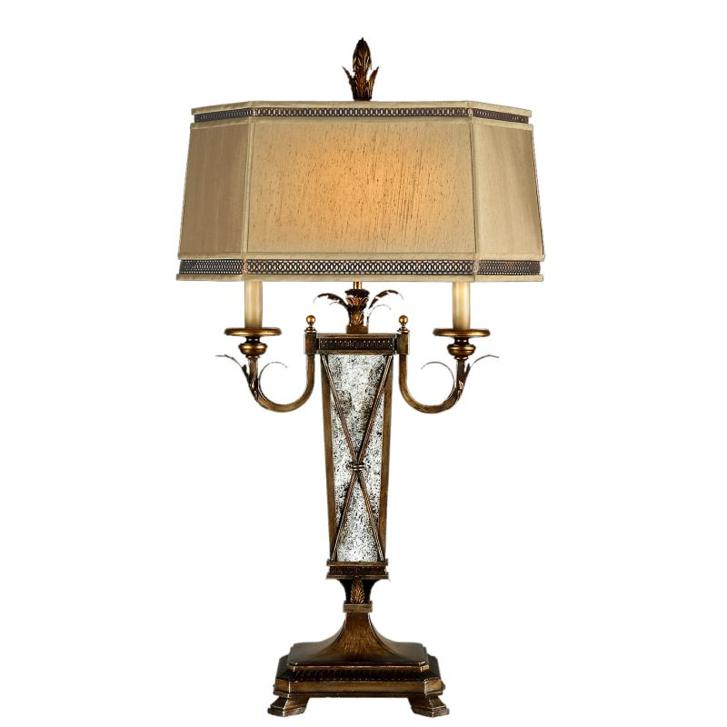 Fine Art Lamps 549410st Burnished Gold Newport Two Light