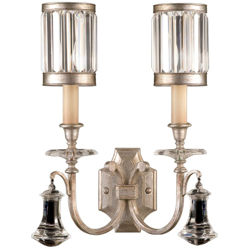 Fine Art Lamps 583050-2ST Eaton Place Silver Two-Light Wall Sconce