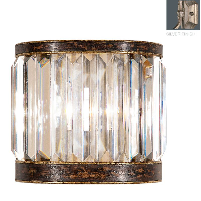 Fine Art Lamps 605650-2ST Eaton Place Silver Single-Light Wall Sconce