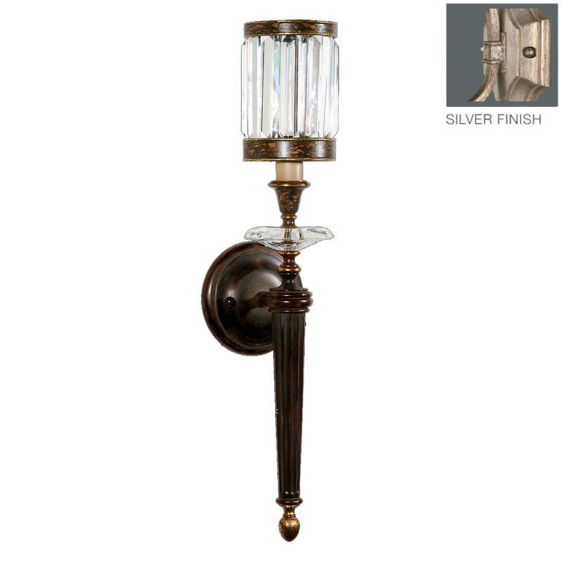 Fine Art Lamps 605750-2ST Eaton Place Silver Single-Light Wall Sconce