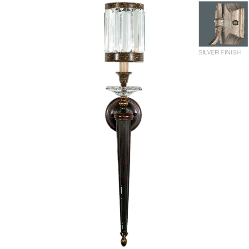 Fine Art Lamps 605850-2ST Eaton Place Silver Single-Light Wall Sconce